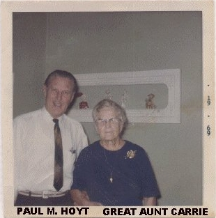 Carrie M. (Hoyt) Colegrove with Paul M. Hoyt, in 1969, at 319 Clark St., Clinton, MI
