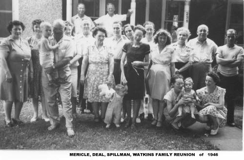 Mericle Families Reunion - 1946