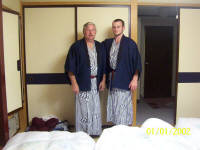 Father John & Son Justin Hoyt in Komonos Nikki, Japan 07/2003