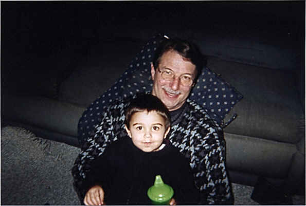 Grandpa Paul (jim) Hoyt with Grandson Alex